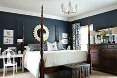 blue bedroom decor and furniture ideas #1 | Lix Decor