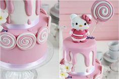 Espirales y Piruleta de Fondant. 3ª Parte Tarta Hello Kitty