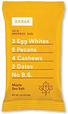 RXBAR Whole Food Protein Bar, Maple Sea Salt, 1.83 Ounce (Pack of 12) Best Price