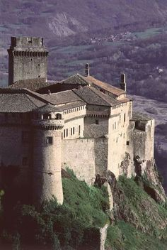 Europe | Bardi Castle, Parma province, Italy. First erected in the IX century. It became a fortress during the XIV century. Later on was the mansion of the family which owned it, the Landi. They decorated it and made it a proper place to live in. In 1863 became a prison.