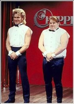 Chippendale's - one of the best episodes of SNL ever.  Not only this skit, there was dirty square dancing and ghost too. Both actors are now in Heaven