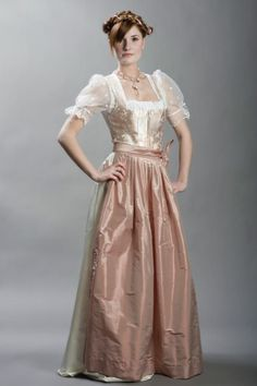 The hues on this elegant dirndl are so romantically beautiful