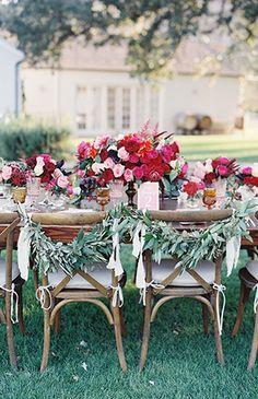 Red & Pink Golden Summer Wedding Inspiration - red, vibrant pink and orange decor
