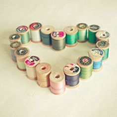 I Heart Sewing  Sewing photography wooden cotton by LolasRoom, $20.00