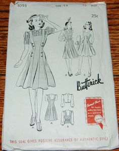 Butterick 1093: slightly insane 10-gore princess jumper; might look great with some color contrast