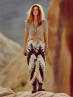 Free People Desert Sun Tie Dye Harem  omg i love these pants so much and it makes no sense