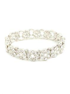 sparkly + fun... our silver button bangle!