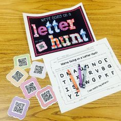 Roam the room and hunt for QR codes while matching lower and upper case letters! So much fun and a great way for kindergarteners to use technology.