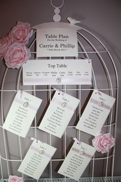 Pretty birdcage table plan