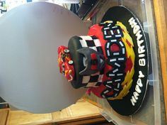 Lightning McQueen cake - I made