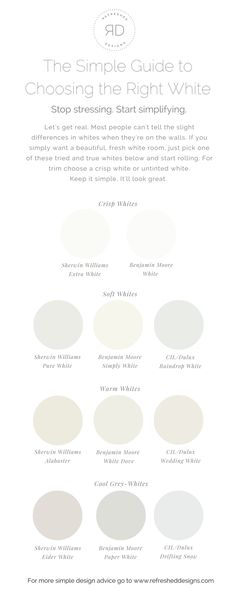 The Simple Guide To Choosing Right White Paint Plus Best Off Colours