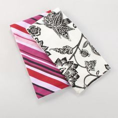 One of my favorite discoveries at WorldMarket.com: Black and White Hana Kitchen Towels, Set of 2