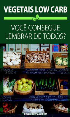 Dicas fáceis para você lembrar quais vegetais entram na sua dieta low carb