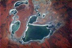 Australia - the dryness creates colours and textures that make the Outback immediately recognizable from space.