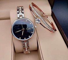 Fancy Watches, Cute Watches, Elegant Watches, Beautiful Watches, Wrist Watches, Stylish Watches For Girls, Trendy Watches, Ladies Bracelet Watch, Princess Jewelry