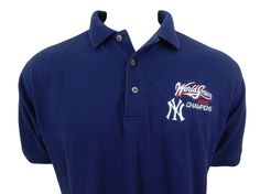 New York Yankees World Series Champions 2000 Embroidered Polo Shirt Size M #Lee #NewYorkYankees