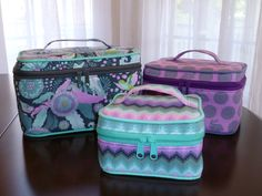 How to sew the bottom/lid on the Crimson and Clover Train Case sewing pattern.