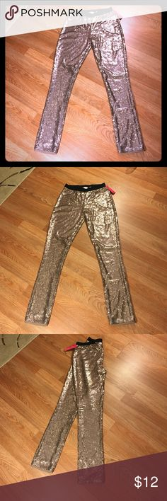 pants Rose Gold sequence leggings Xhilaration Pants Leggings