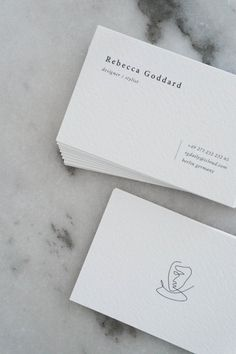 Classic & Minimalist Business Card Design - Black Line Drawing - Rebecca Goddard. Business Cards Layout, Luxury Business Cards, Letterpress Business Cards, Minimalist Business Cards, Elegant Business Cards, Cool Business Cards, Black Business Card, Classic Business Card, Fashion Business Cards