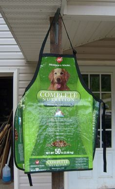 Recycled Feed Sack Plastic Full Apron