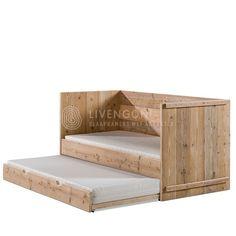 Steigerhout kajuitbed met lade | scaffold bunkbed with drawer…
