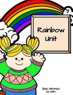 Rainbow Unit from The Play-Based Preschool on TeachersNotebook.com -  - Entire week of activities for a preschool rainbow theme.
