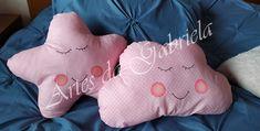 Almofada Estrela e Nuvem Throw Pillows, Cloud, Star, Tejido, Toss Pillows, Cushions, Decorative Pillows, Decor Pillows, Scatter Cushions