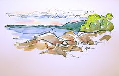 Sketchbook Wandering : Evening Sketches by the Bay