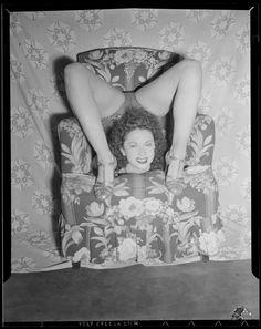 "weirdvintage: ""Unknown contortionist woman, c. (by Leslie Jones… Old Photos, Vintage Photos, Leslie Jones, Weird Vintage, Circus Performers, Contortionist, Boston Public Library, Drag, Poor Children"