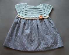 Cotton Vintage Style Baby Girl Dress Crochet by atelierbagatela, €45.00