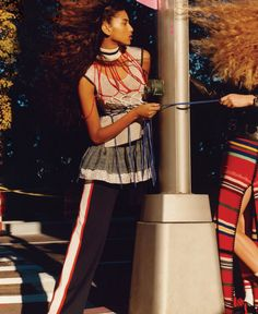 """imaanhammamofficial: """"""""National Anthem, Imaan Hammam photographed by Jamie Hawkesworth for Vogue US 