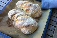 Recept: a tökéletes ciabatta (kezdőknek is!) Ciabatta, Bread Recipes, Cooking Recipes, Sandwiches, Recipies, Food And Drink, Homemade, Meals, Cookies