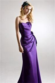 Simple yet elegant : Satin dress with flower detail on hip
