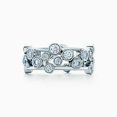 Tiffany Bubbles ring of diamonds in platinum.