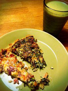 Piirakat: Pekoni-parsakaali-pinaatti-punasipuli ja suppis-pekoni-pinaatti-sipuli-parmesan. Vihersmootiessa selleri, omena, Cosmopolitan-salaatti, lime, minttu, seesaminsiemen ja kookosöljy.