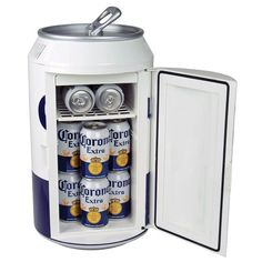 Corona Extra 12 Can Ac/dc Portable Mini Cooler/Mini Fridge by Koolatron, Size: 11 x 11 Color: White. Fridge Cooler, Mini Cooler, Beer Fridge, Beer Cooler, Mini Fridge, Thermoelectric Cooling, Corona Extra, Compact Refrigerator, Beverage Refrigerator