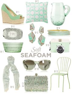 Seafoam mint doesn't matter what you call it, i love it! Right up there next to pink!