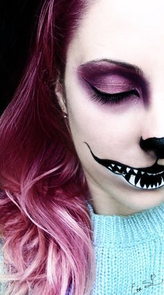 We're all mad here (Chessire Cat Halloween makeup) by *Chuchy5 on deviantART