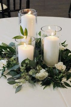 Floral Wedding, Wedding Colors, Trendy Wedding, Classy Wedding Ideas, Greenery For Wedding, Cheep Wedding Ideas, Wedding Ideas Green, June Wedding Flowers, Natural Wedding Decor