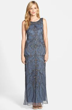 Free shipping and returns on Pisarro Nights Scoop Back Embellished Gown at Nordstrom.com. Glittering beads and scintillating sequins trace a grand, swirling motif over a sleeveless mesh gown in a classic column silhouette. A scooped back finishes the lovely design.