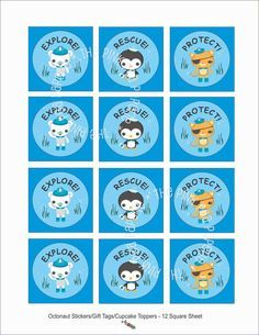 octonauts characters paper templates in 2018 octonauts party ideas