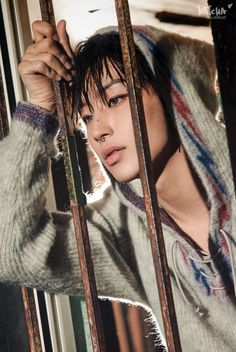 The septum piercing looks soooo good on him😍😍😍😍 Youngjae, Jongup Bap, Aesthetic People, Red Aesthetic, Jung Daehyun, K Pop Star, Pop Bands, Girl Day, Bape