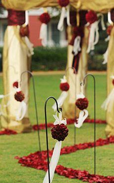 red and gold theme wedding Disney wedding