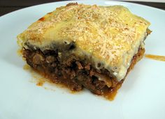 Moussaka. This was a really good starter recipe. VERY labor-intensive but the pay-off is worth it. None of the steps are particularly difficult, they're just time-consuming. Definitely a weekend recipe. Next time I'd add red wine to the meat sauce. And make sure to salt generously at each step! All the elements require a good amount of salt.