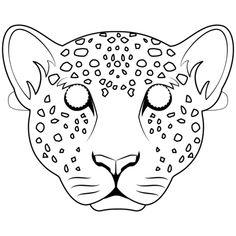 Máscara de Leopardo Dibujo para colorear Animal Masks For Kids, Mask For Kids, Animals For Kids, Animal Mask Templates, Printable Animal Masks, Templates Printable Free, Free Printable Coloring Pages, Rainforest Theme, Cat Coloring Page