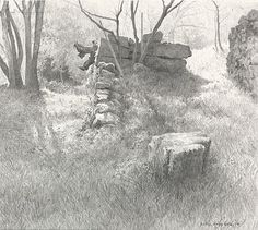 On the Way To Marjanoux - Peter Durieux - pencil