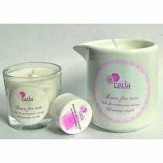 Vela para masajes Roses for Two con Regalo de mini Roses For Two 50 ml y Renovador Celular Antiarrugas Q10 5 ml.