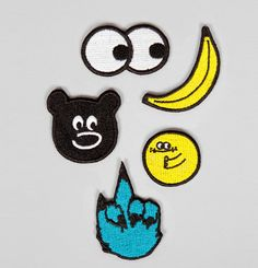 Lazy Oaf yellow badge pack