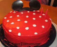 Minnie Mouse polka dot cake (also polka dot inside)