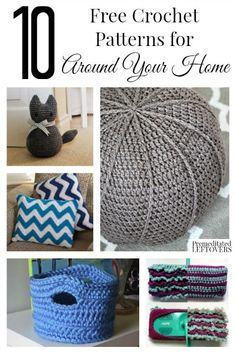 10 Free Home Decor Crochet Patterns - You will be amazed by the awesome stuff you can crochet for your home with these free home decor crochet patterns!